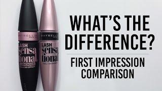 Maybelline Lash Sensational Luscious Mascara Comparison