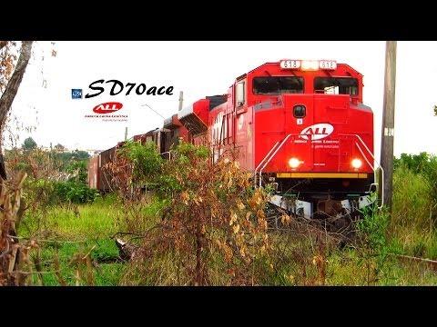 EMD SD70ace 618 da América Latina Logística. ALL