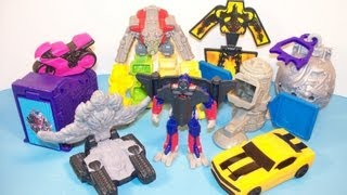 2009 TRANSFORMERS 2 REVENGE OF THE FALLEN SET OF 8 BURGER KING KIDS MEAL TOY'S VIDEO REVIEW