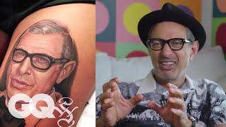 Jeff Goldblum Critiques Jeff Goldblum Tattoos | Tattoo Tour | GQ