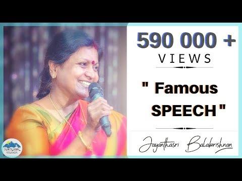 Prof.Jayanthasri Balakrishnan FAMOUS speech | 2016