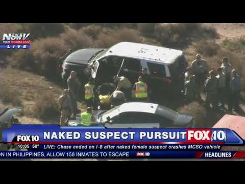 WOW Naked Woman in CUSTODY After Stealing Sheriff s Vehicle and Leading Police Chase