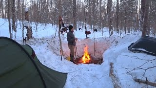 Winter Camping, Day 1, LOTS of Snow, Algonquin Park 2017