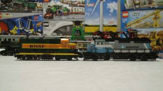 LEGO 10133 BNSF vs 10219 Maersk Train