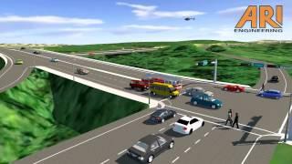 Model of Highway Interchange for Senior Project