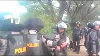 Nyaris bentrok FPI dan GMBI di Mapolda Jawa Barat
