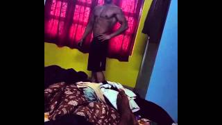 Shubh joshi fitness posing video..
