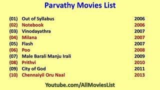 Parvathy Movies List