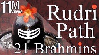 Vedic Chanting  Rudri Path by 21 Brahmins