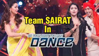 Rinku & Akash Dance with Madhuri Dixit On Jhingat Song | Sairat Team On So You Think You Can Dance