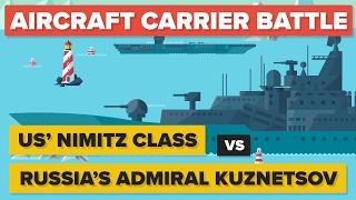 US Nimitz Class vs Russia's Admiral Kuznetsov Aircraft Carrier - Military / Navy Comparison