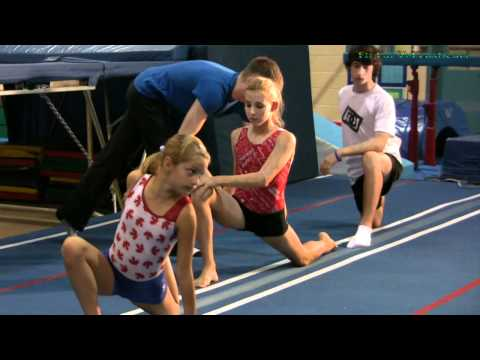 Stretching Warmup Exercise for Gymnastics, Dance, Cheerleading, Trampoline and Flexible Fitness