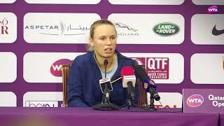 2018 Qatar Open press conference: Caroline Wozniacki 'she played aggressively'