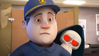 Funny Animated Cartoon | Spookiz Skeleton Teacher Meets the Janitor 스푸키즈 | Cartoon for Children