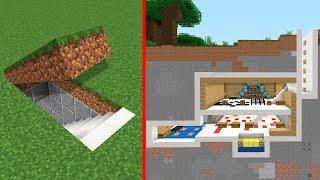 Minecraft | Como construir una Base Secreta Moderna Tutorial (Casa Escondida)