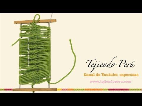 Horquilla o hairpin lace cómo tejen en la técnica básica