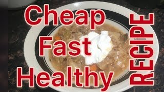 Easy, fast, cheap and healthy crockpot recipe