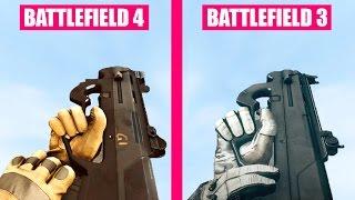 Battlefield 4 Guns Reload Animations vs Battlefield 3