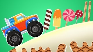 Monster Truck Adventure | Candy Land | Games For Kids