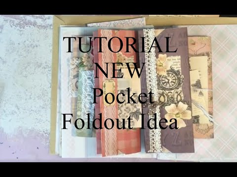 Xxx Mp4 TUTORIAL New Foldout Pocket Idea For Junk Journals 3gp Sex