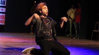 MUST WATCH  !!! Amazing Animation Dubstep Dance Perfomance By Pop'N'Ticko In Goa