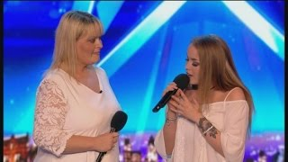 Mom & Daughter Singing Duet Get CRUSHED :( | Auditions 4 | Britain's Got Talent 2017