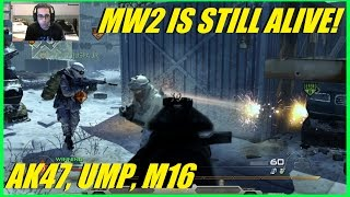 COD MW2- Modern Warfare 2 is still alive! | Phobia and I try Domination!(AK47, UMP, M16)