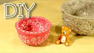 DIY Homemade Modelling Clay Out Of Newspapers - Recycled DIY Homemade Plasticine