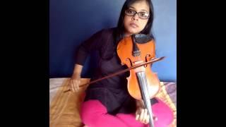 Moh  moh  ke Dhage instrumental(violin)