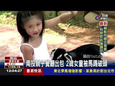 南投親子餐廳出包2歲女童被馬踢破頭