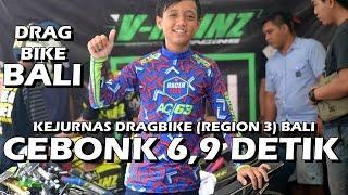 Alvan Cebonk 6,9 Detik Ninja tune up Kejurnas DragBike Serangan Bali 2016
