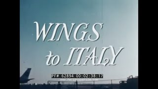 "PAN AM AIRLINES ""WINGS TO ITALY""  1960s ITALY VACATION TRAVELOGUE  ROME, SARDINIA, FLORENCE  62894"