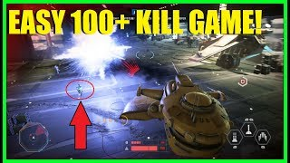 Star Wars Battlefront 2 - 100+ Kill Game & 50,000+ Score!   How To Get Points FAST! EASY!