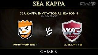 Happy Feet vs WarriorsGaming.Unity | SEA KAPPA | Philippine Coverage | Game 3