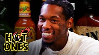 Offset Screams Like Ric Flair While Eating Spicy Wings | Hot Ones