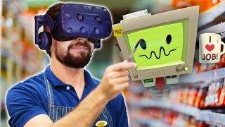 DON'T POINT YOUR BANANA AT ME | Job Simulator (HTC Vive Virtual Reality)