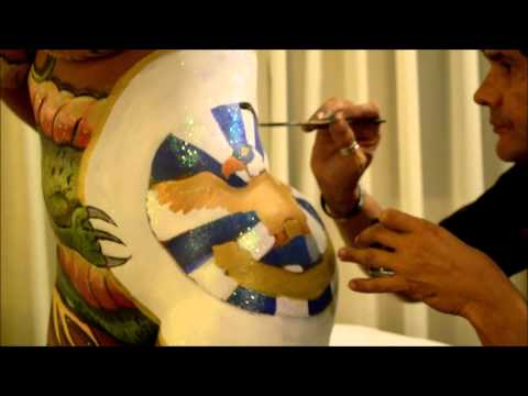 Pintura Corporal Dragao Aguia de Ouro Andrea Martins