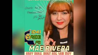 Mae Rivera on DXFR FM ARAY