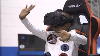 Sick Boy's Wish to Visit Saturn in a Rocket Comes True With Virtual Reality