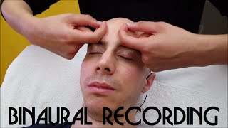 Girl performs Sleeping Head and Face Massage - ASMR Binaural recording