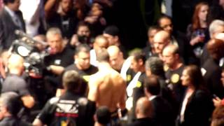 Luke Rockhold going into the cage