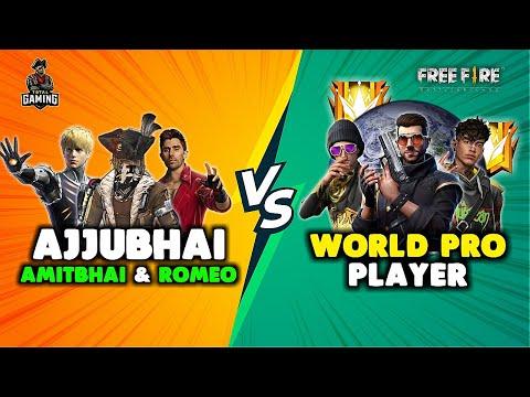 Ajjubhai and Desi Gamers vs World Pro Player Punkster Runner Bundle Gameplay Garena Free Fire
