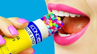 8 Edible School Supplies / Funny Pranks!