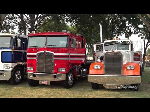 Xxx Mp4 Classic Peterbilt Kenworth Mack Trucks Leaving Brooks Truck Show 2015 3gp Sex
