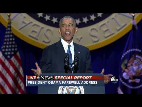 FULL President Barack Obama s Farewell Address Jan. 10 2017
