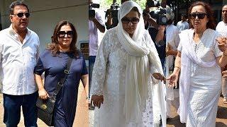 Farah Khan, Asha Parekh, Farida Jalal At The Funeral Of Bollywood Actress Shammi Aunty