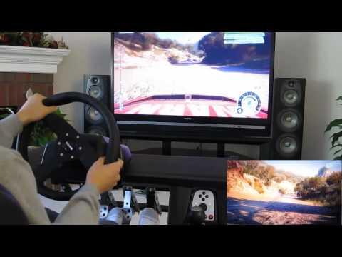 DiRT 2 cockpit Logitech G25 Momo hydraulic pedal