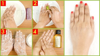 How to Do Skin Lightening Tan Removal Manicure At Home | With DEMO
