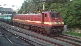 12633 Chennai Egmore - Kanyakumari Super Fast Express Overtakes Tambaram EMU