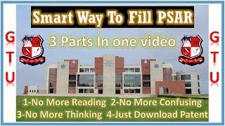 || Fill GTU PSAR In Smart Way || Easy PSAR Fill ||